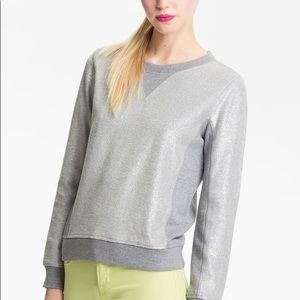 Marc x Marc Jacobs silver coated pullover sweater